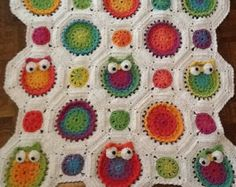 Owl Children's Afghan or Wall Hanging