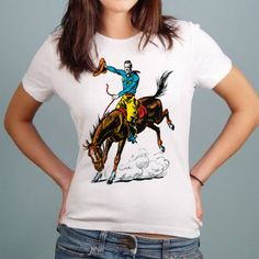 Cowboy Rodeo - Gals T-shirt A Love Supreme, Rodeo, Fox, T Shirts For Women, Hair, Accessories, Collection, Fashion, Moda