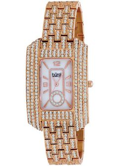 Price:$108.00 #watches Burgi BUR053RG, This exceptional Burgi ladies, dazzling crystal, quartz watch is perfect for any occasion. Glistening crystals accent bezel, bracelet, and mother of pearl dial.