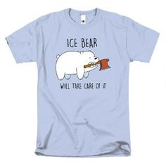 This We Bare Bears t-shirt features the Ice Bear. Ice Bear will take care of it!