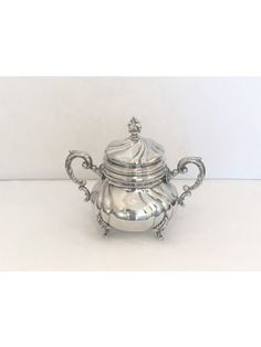 Dresdner Zuckerschale Barock 925 Silber Sugar Bowl, Bowl Set, Tea Pots, Tableware, Baroque, Objects, Sugar, Silver, Dinnerware