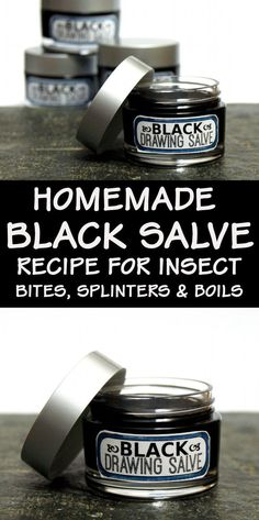 Black Drawing Salve DIY! Try this DIY for making a folk remedy for homemade black drawing salve! This natural home remedy works great for treating splinters, boils, acne, bee stings, poison and infections. A twist off traditional black drawing salve recipes, this black drawing salve recipe also contains honey and antioxidant green tea to further support skin health. #blacksalve #salve #medicine #skincare #diy #recipe #drawingsalve #natural #botanical #remedy #homeremedy #naturalremedy