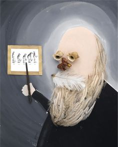 Charles Darwin - Hanoch Piven Illustration
