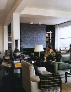 Giancarlo Giammetti's home, designed by Peter Marino, and featuring art by Cy Twombly