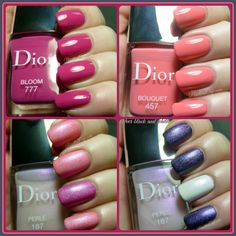 Dior Bloom Bouquet 457 and Perlé 187 - from the Dior Trianon Collection for Spring 2014 Dior Nail Polish, Bed Of Nails, Beauty Review, Manicures, Spring 2014, Toe Nails, Makeup Tips, Swatch, Bouquet