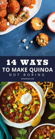 Home Made Doggy Foodstuff FAQ's And Ideas Check Out These Best Quinoa Recipes And Cooking Ideas. Here Are 14 Ways To Make Quinoa Not Boring, Including Quinoa Bowls, Quinoa Salads, And Instant Pot Quinoa. Best Quinoa Recipes, Real Food Recipes, Vegetarian Recipes, Healthy Recipes, Delicious Recipes, Clean Eating Dinner, Clean Eating Recipes, Granola, Healthy Cooking