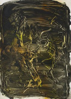 Judy Millar, Untitled, oil and acrylic on paper, 1000 x Proof Of Heaven, Nz Art, Rough Draft, Brutalist, Contemporary Paintings, Abstract Art, Oil, Gallery, Paper