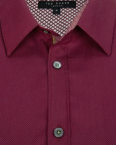 Dobby spot shirt - Red | Shirts | Ted Baker