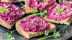 Tostadas, Salmon Burgers, Tuna, Fish, Vegan, Ethnic Recipes, Blueberry Cheesecake, Almonds, Vegetarian Cooking