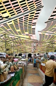 SMIT's Tensile Solar panels can transform public spaces such as outdoor markets into an energy producer. Photo: SMIT.