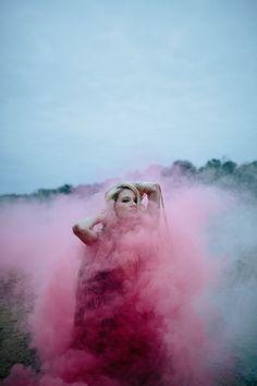 Pink smoke bomb look – Velvet Dust Magazine Issue 1 Utopia / Dystopia Smoke Bomb Photography, Color Photography, Creative Photography, Portrait Photography, Landscape Photography, Photography Themes, Photography Filters, Popular Photography, Photography Guide