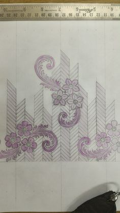 Border Embroidery Designs, Bead Embroidery Patterns, Embroidery Suits Design, Couture Embroidery, Embroidery Works, Paper Embroidery, Learn Embroidery, Rose Embroidery, Fabric Patterns