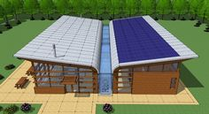 Rainwater and Solar Power Harvesting System<br /><br /> Submitted by: Jorge Arias, Architect<br /><br /> Description: a water-centric house that collects rainwater and displays it as an entertainment / decorative element inside the home; the roof does d Solar Energy, Solar Power, Water From Air, Casa Patio, Casas Containers, Small Barns, Water Collection, Rainwater Harvesting, Water Wise