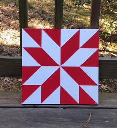 Items similar to Hand painted rustic barn quilt. red and white Lemoyne star on Etsy Barn Quilt Designs, Barn Quilt Patterns, Star Patterns, Quilting Designs, Quilting Ideas, Rustic Barn, Barn Wood, Barn Quilts For Sale, Mini Barn