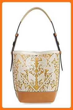 b26aac8781 Tory Burch Perforated Leather Hobo Parchment Flower Tan Beige Bag - Hobo  bags ( Amazon