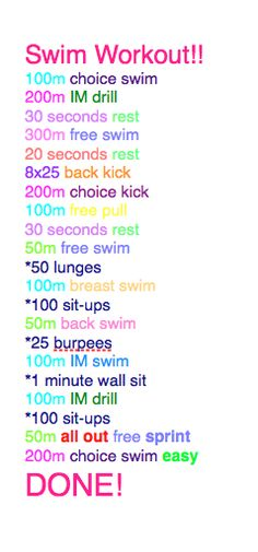 Swim Workout Swimming To Lose Weight Swimming To Lose Weight Pinterest Swim Swim