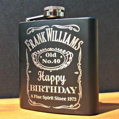 Personalized Birthday Flask by MarcellasEngravables on Etsy, $23.00
