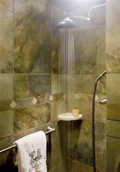 Hilltop Manor Bed and Breakfast – Hot Springs, AR - 2012 winner. Rainmaker shower big enough for 2 in the Magnolia Suite