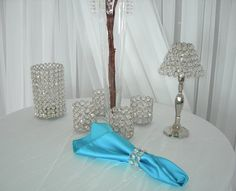 rhinestone tealight candle holder with shade | Rental Items - Crystal Trees - NJS Design Event Party Rentals