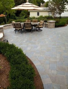 46 Awesome Brick Patterns Patio Ideas For Your Beautiful Yard - Design Backyard Patio Designs, Yard Design, Patio Ideas, Landscape Bricks, Landscape Design, Brick Patterns Patio, Building A Porch, House With Porch, House Front