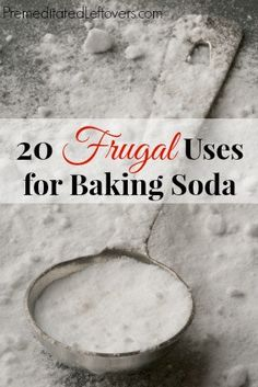 20 Frugal Uses for Baking Soda - Thrifty and eco-friendly household hacks for using baking soda around your home instead of store-bought cleaners.