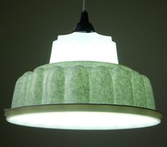 Tupperware Lamp by Ypsilanti: Made from an upcycled Jello mold. Love the speckles! $35