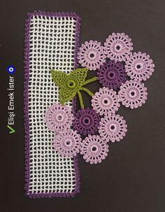 Crocheted towel edge model with crochet Crochet Towel, Knit Crochet, Diy And Crafts, Crochet Necklace, Make It Yourself, Knitting, Model, Tejidos, Rage
