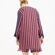 Collection striped popover jacket
