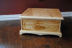 Custom Carved Celtic Knot Wooden Wedding Cake Stand and Memory Box