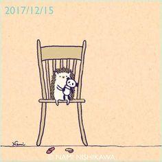 1363 #パンダ a #panda #illustration #hedgehog #イラスト #ハリネズミ #なみはりねずみ