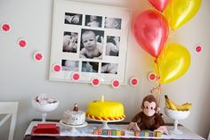 Curious George 1st birthday