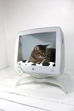 OMG! OMG! <3   E eu que não sabia o que fazer a um monitor velho que tenho para lá... :)    Cool idea for an old monitor.