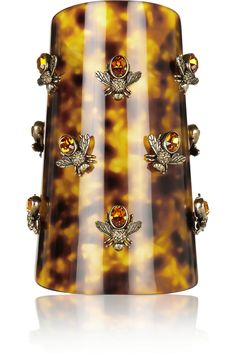 bee-embellished plexiglass cuff with Swarovski crystals : Sarah Burton for Alexander McQueen