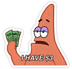 'patrick star meme' Sticker by vivienne G - Stickers . - 'patrick star meme' Sticker by vivienne G – Stickers … - Stickers Cool, Red Bubble Stickers, Meme Stickers, Snapchat Stickers, Tumblr Stickers, Phone Stickers, Printable Stickers, Preppy Stickers, Star Stickers