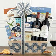 Wine Gift Baskets - California Duo Wine Gift Basket Summer Gift Baskets, Wine Gift Baskets, Summer Gifts, Wine Gifts, Wines, Birthdays, California, Bottle, Spring