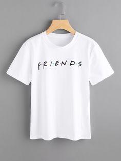 Camiseta con letras -Spanish SheIn(Sheinside)