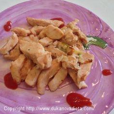 Kuracie prsia s cibuľkou a kečupom Dukan