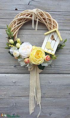 Romantikus rózsás ajtódísz, kopogtató (madarkamuhely) - Meska.hu