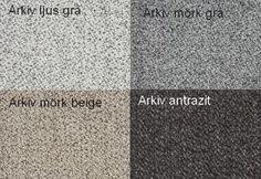 Arkiv Ljus Grå / Arkiv Mörk Grå / Arkiv Mörk Beige / Arkiv Antrazit Från Hovden Arkiv Light Grey / Arkiv Dark Grey / Arkiv Dark Beige / Arjuv Anthracite From Hovden