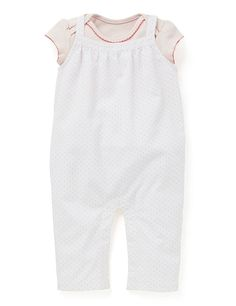 2 Piece Pure Cotton Bodysuit & Spotted Dungaree Outfit | M&S