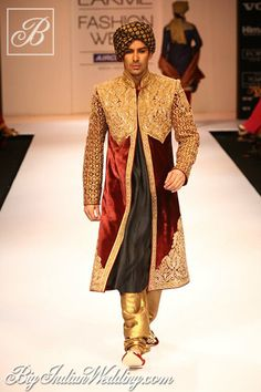 Shyamal & Bhumika designer wear for grooms
