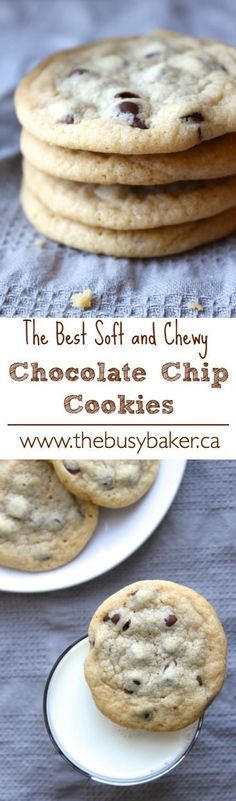 Super chewy and delicious chocolate chip cookie recipe. The Busy Baker: Chewy Chocolate Chip Cookies