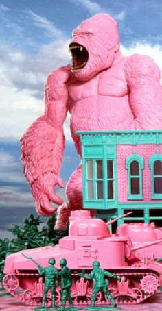 """There Goes The Neighborhood"" (detail of kitsch delight) by Ron English http://www.coreyhelfordgallery.com/"