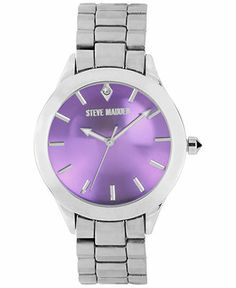 Steve Madden Watch, Women's Silver-Tone Bracelet 40mm SMW00027-09 - Women's Watches - Jewelry & Watches - Macy's