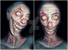 Evil Clown makeup by CamilaCostaArt.deviantart.com on @DeviantArt