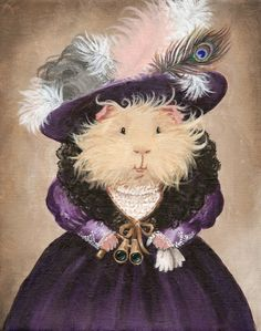 Ingrid Pumpernickel the Victorian Guinea Pig Art Print