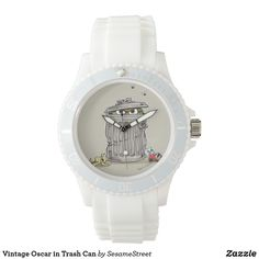 Shop Vintage Oscar in Trash Can Wrist Watch created by SesameStreet. Vintage Shops, Retro Vintage, Presents For Kids, Cool Gifts, Michael Kors Watch, Quartz, Watches, Canning, Crystals