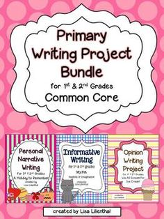 This bundle of three primary writing projects meets Common Core Standards. Personal narrative, informative, and opinion writing is covered. Each project has fun and engaging activities and includes what you need to teach from the beginning to the end of the units.