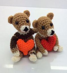 Amigurumi Valentine Teddy Bear Part Two : Bearly Love on Pinterest Crochet Bear, Teddy Bears and ...