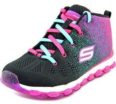 Skechers Glitterama Round Toe Canvas Sneakers.